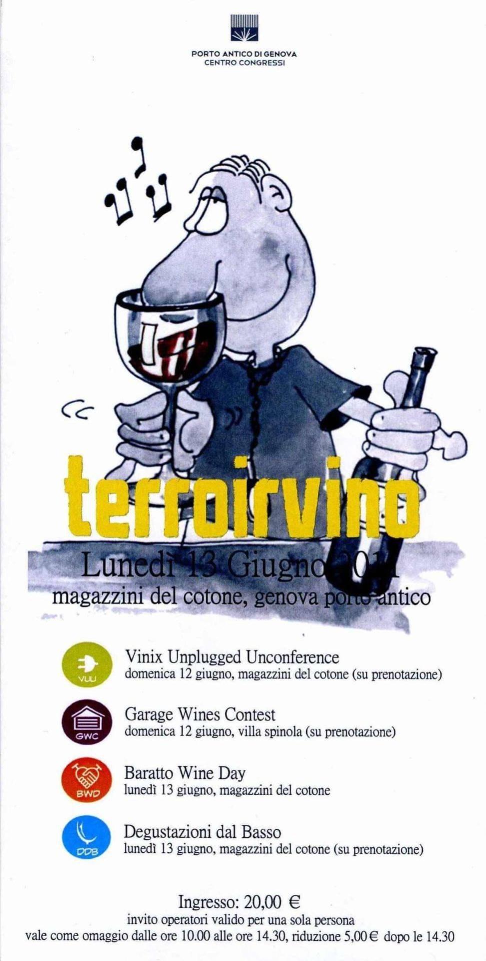 Capurro Ricevimenti A Giugno, torna ai Magazzini del Cotone di Genova TerroirVino; in Villa Spinola concorso internazionale e cena di gala image 1