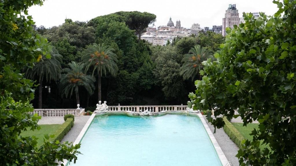Villa Lo Zerbino vista panoramica dal piano nobile piscina e giardino