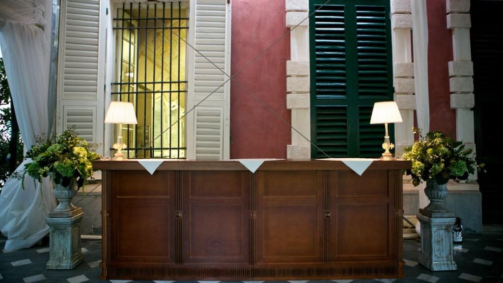 Villa Durazzo particolare di uno degli arredi all'interno della tecnostruttura