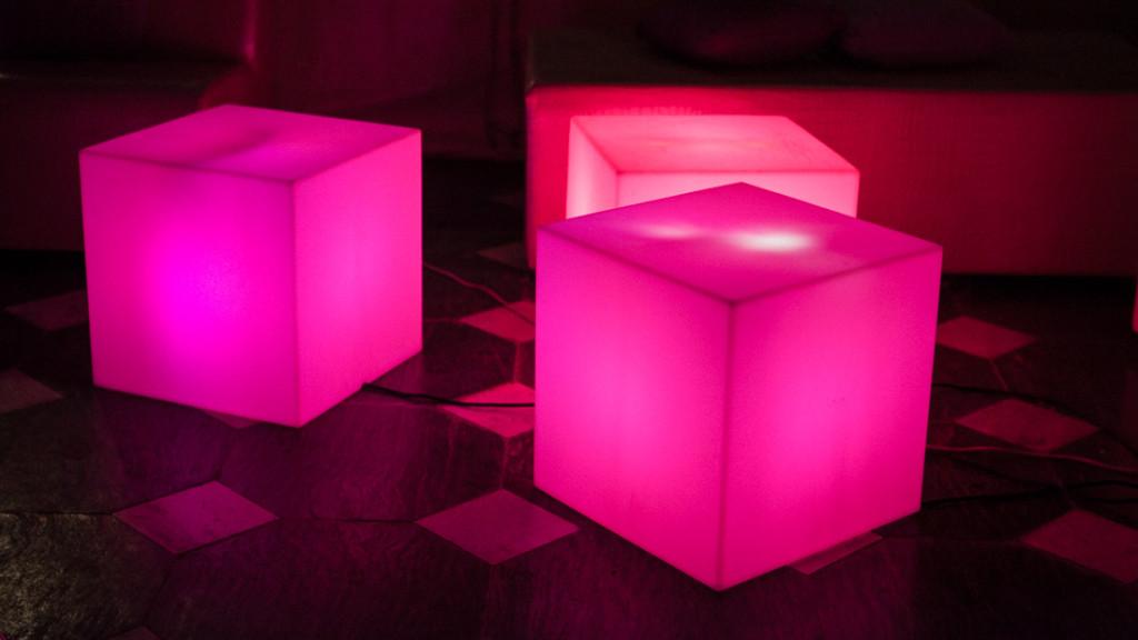 Villa Durazzo matrimonio cubi lumionosi colorati
