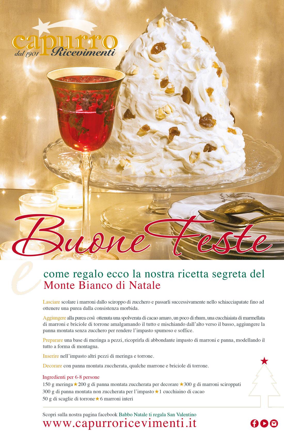 Capurro Ricevimenti La ricetta del Monte Bianco di Natale image 1