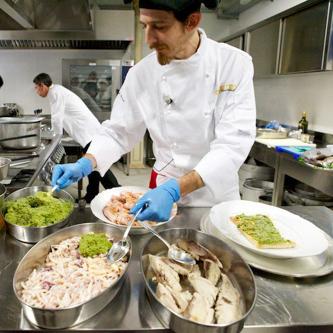 chef all'opera per il tuo ricevimento