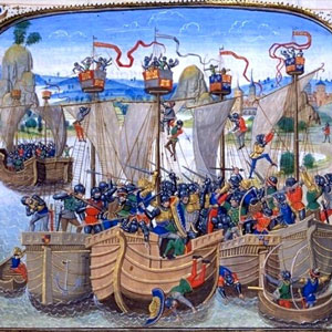 war-of-La-Rochelle-1419-at-the-Chronicle-of-Jean-Froissart-15th-Century1